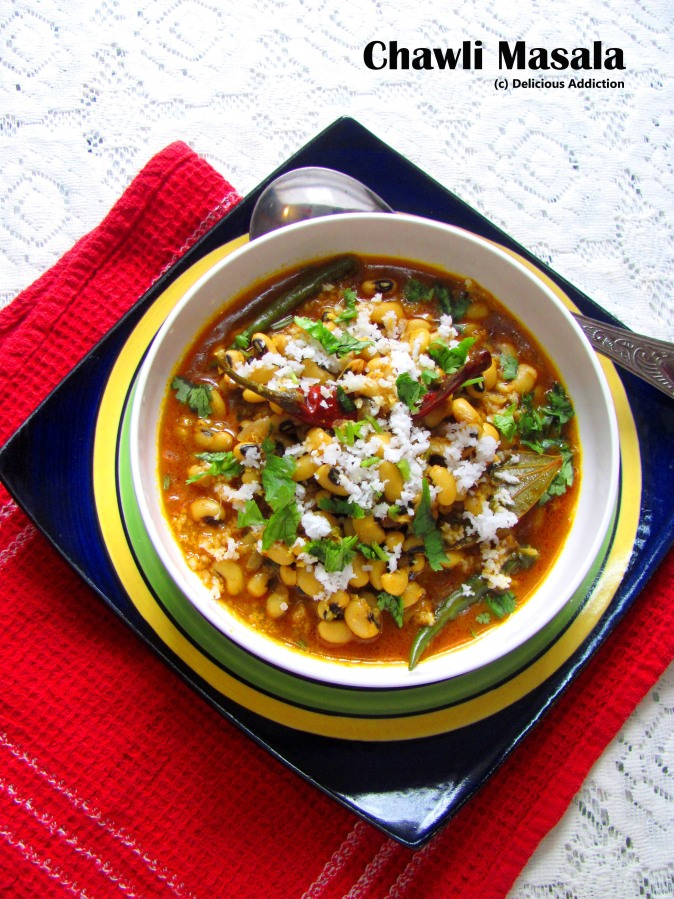 Chawli Masala (Spicy Black Eyed BeansCurry)