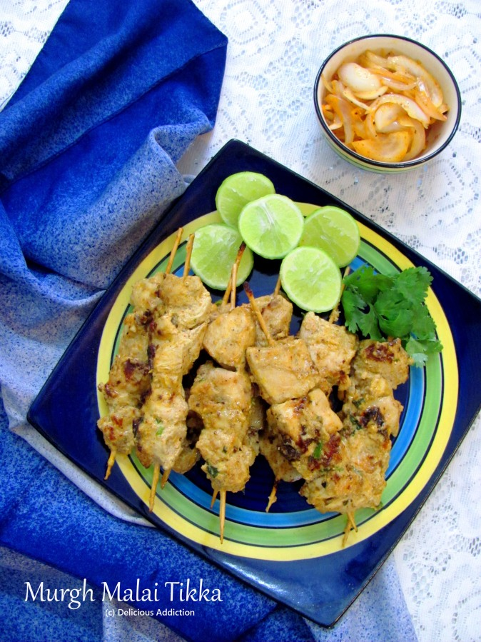 Murgh Malai Tikka (Chicken MalaiKebab)