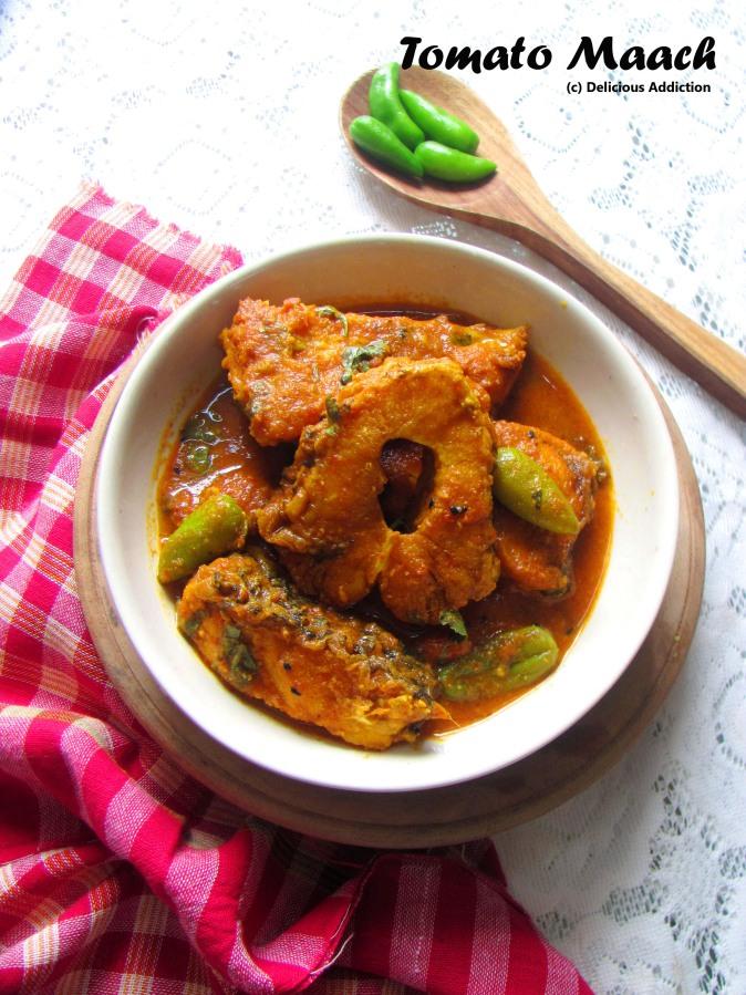 Tomato Maach (Rohu / Katla Fish Curry in Thick TomatoGravy)
