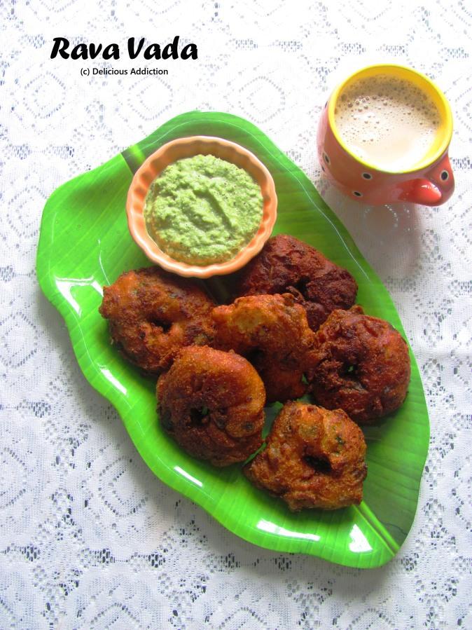 Rava Vada (Indian Savoury Donut withSemolina)