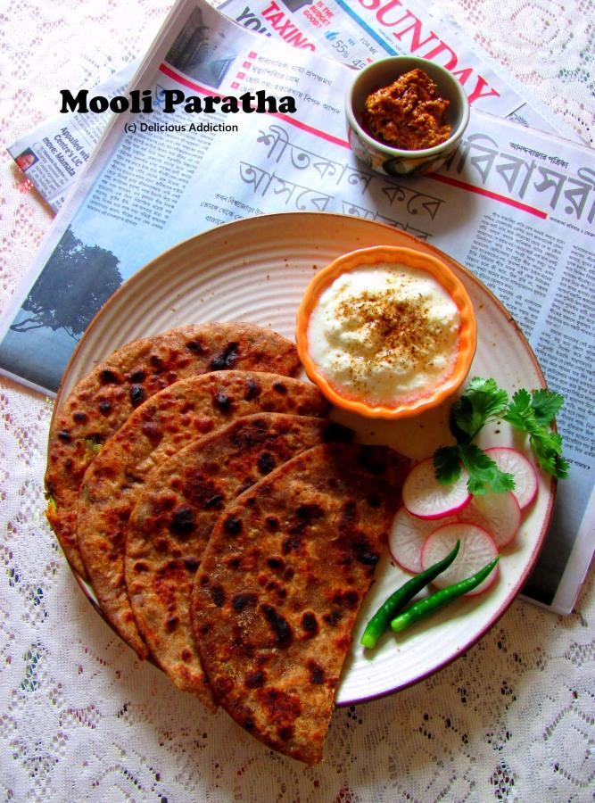 Mooli Paratha (Stuffed Radish FlatBread)