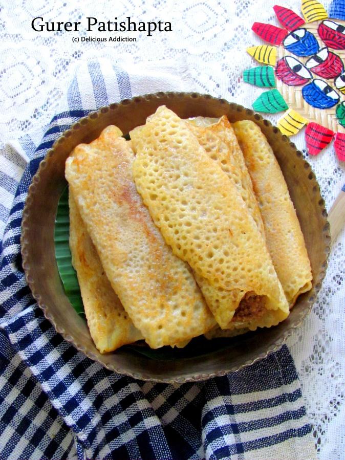 Gurer Patishapta (Rice Flour Crepe with CoconutStuffing)