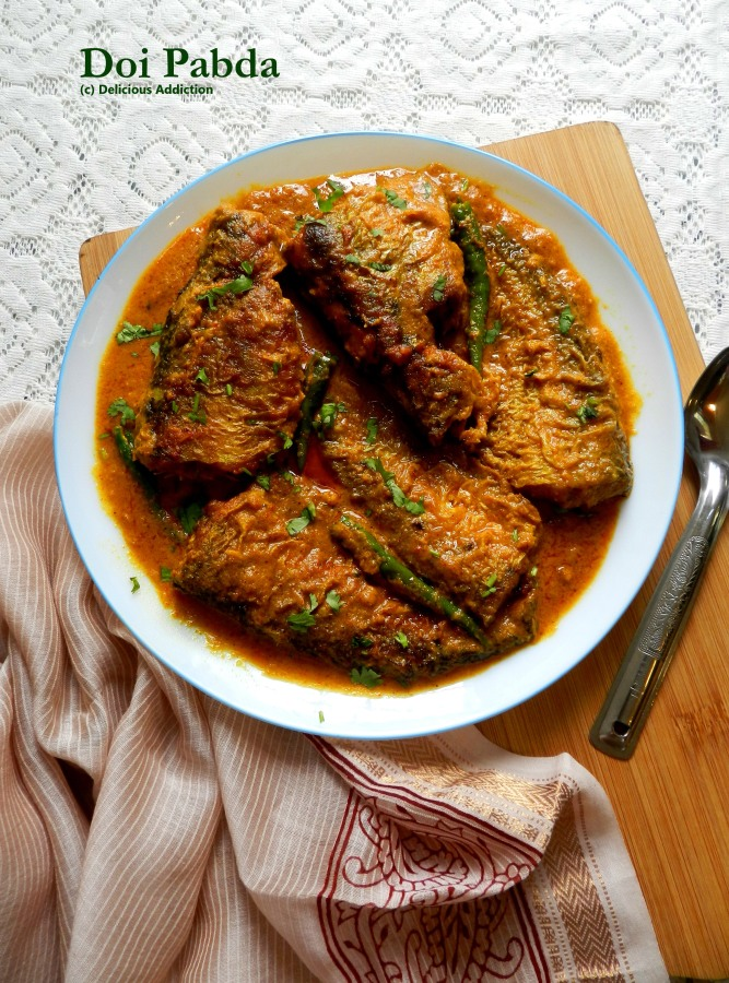 Doi Pabda (Indian Cat Fish Curry with Curd)