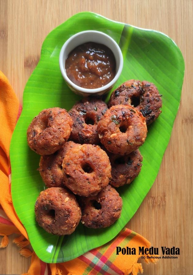 Poha Medu Vada (Flattened RiceCutlet)