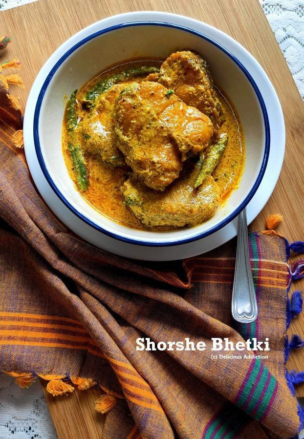 Shorshe Bhetki (Barramundi Fish Curry in MustardSauce)
