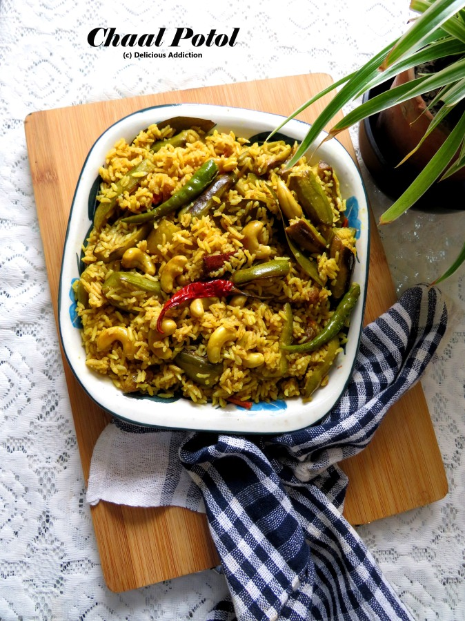 Chaal Potol (Pointed Gourd Cooked with AromaticRice)
