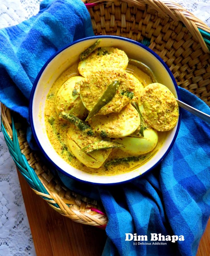 Dim Bhapa (Steamed EggCurry)