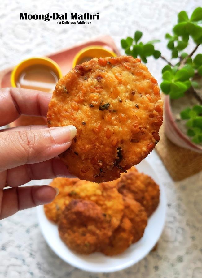 Moong Dal Mathri (Snacks made of Split YellowLentil)