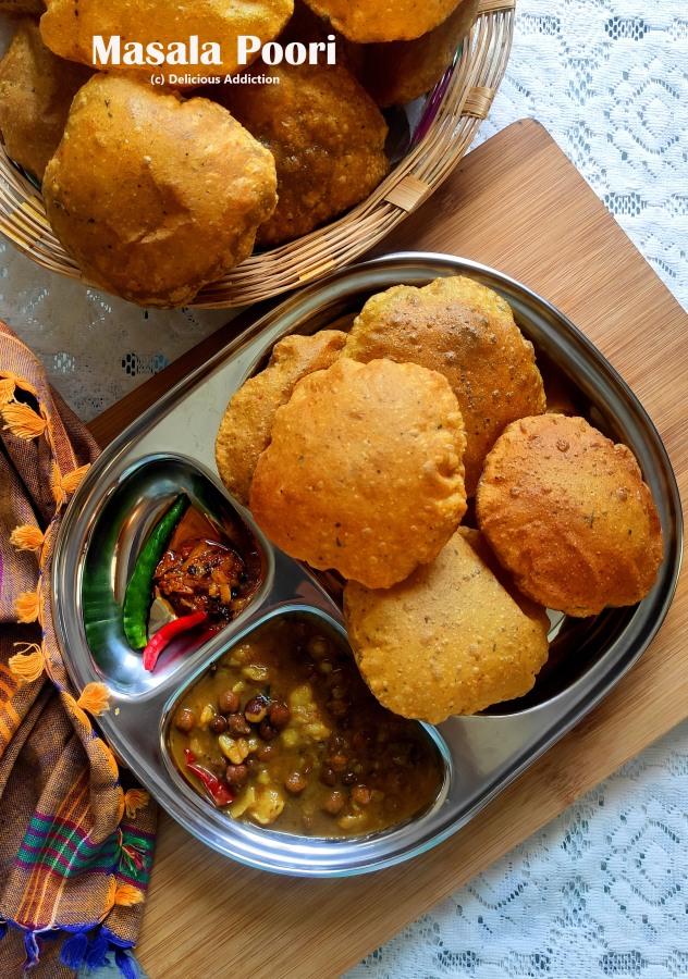 Masala Poori (Spicy Fried PuffedBread)