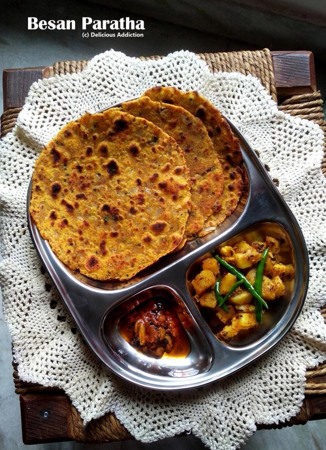 Besan Paratha (Indian Flat Bread with GramFlour)