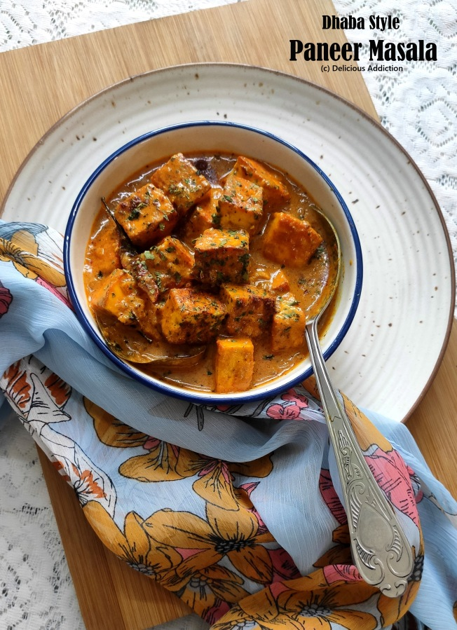 Dhaba Style Paneer Masala (Indian Cottage Cheese in Rich CreamyGravy)