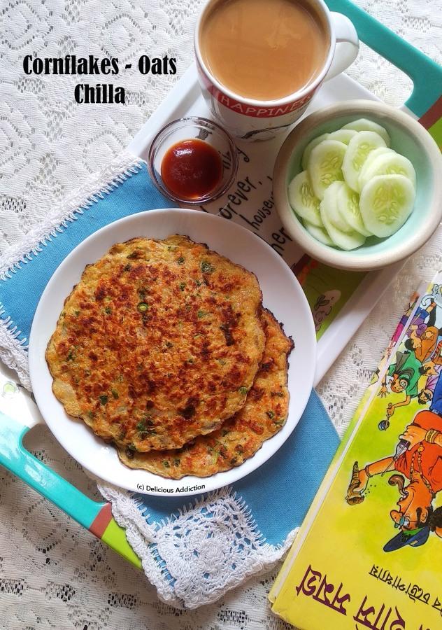 Cornflakes-Oats Chilla