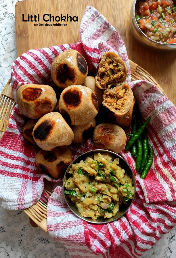 Litti-Chokha-Tamatar Chutney (A traditional dish fromBihar)