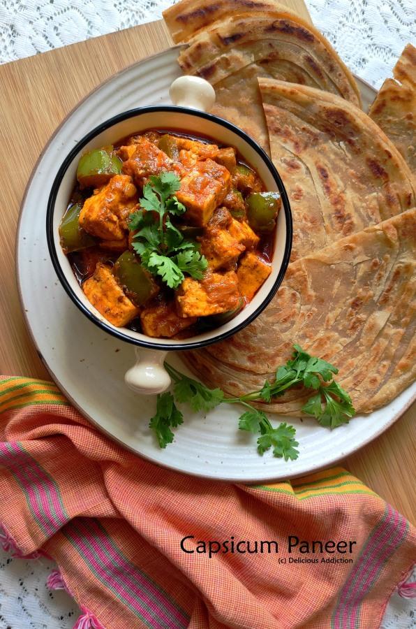 Capsicum Paneer Masala (Indian Cottage Cheese withCapsicum)