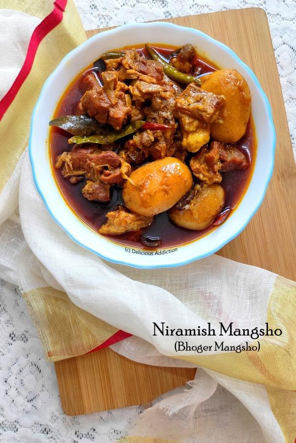 Niramish Mangsho or Bhoger Mangsho (Mutton Curry withoutOnion-Garlic)