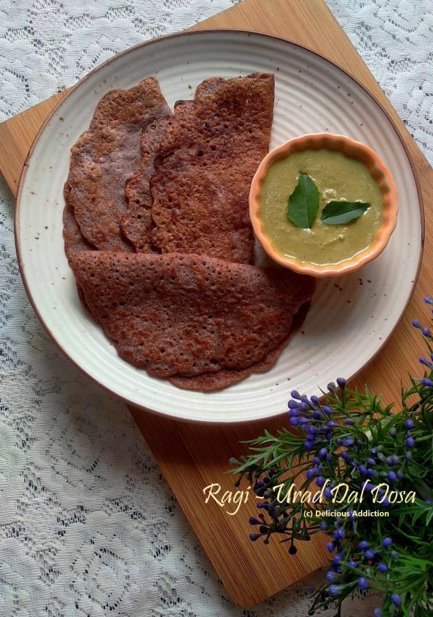 Ragi Urad Dal Dosa (Finger Millet and Split Black GramDosa)