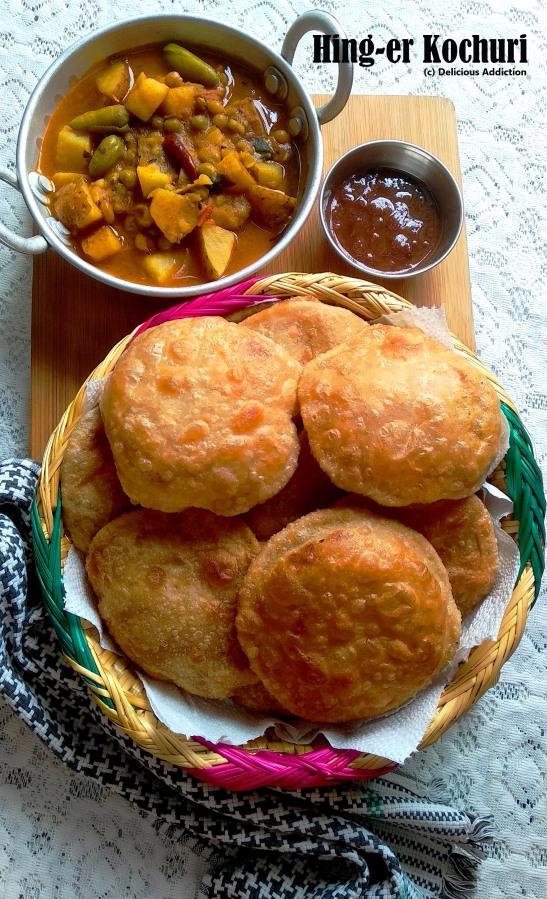 Hing-er Kochuri (Asafoetida Flavoured Fried IndianBread)