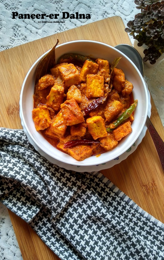Paneer-er Dalna (Indian Cottage CheeseCurry)
