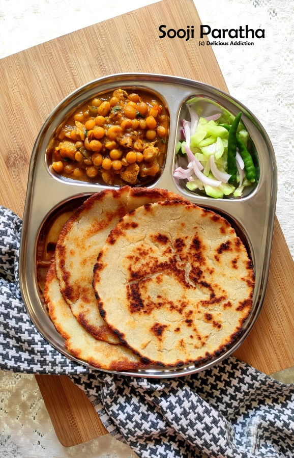 Sooji Paratha (Indian Flat Bread withSemolina)