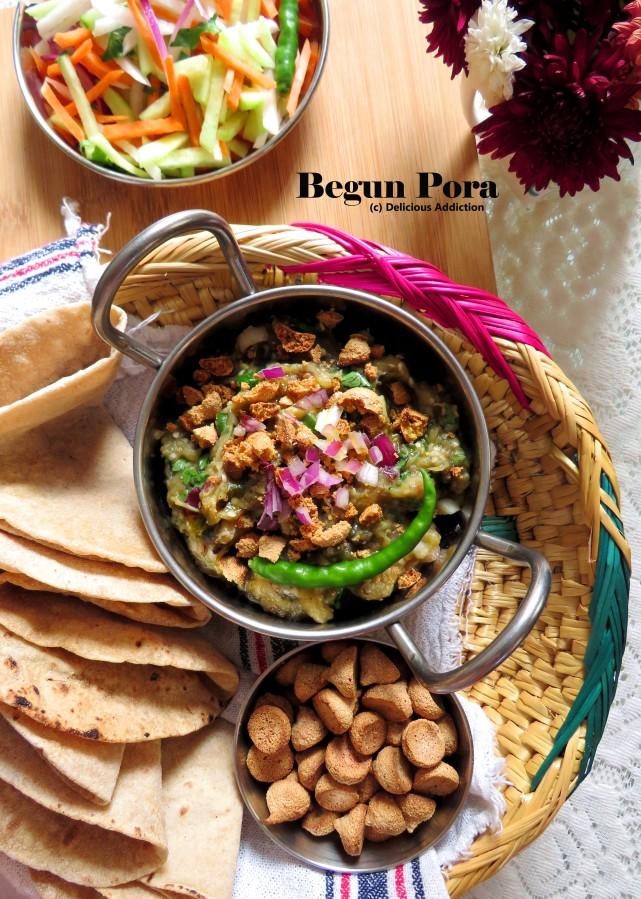 Begun Pora (Bengali RoastedEggplant)