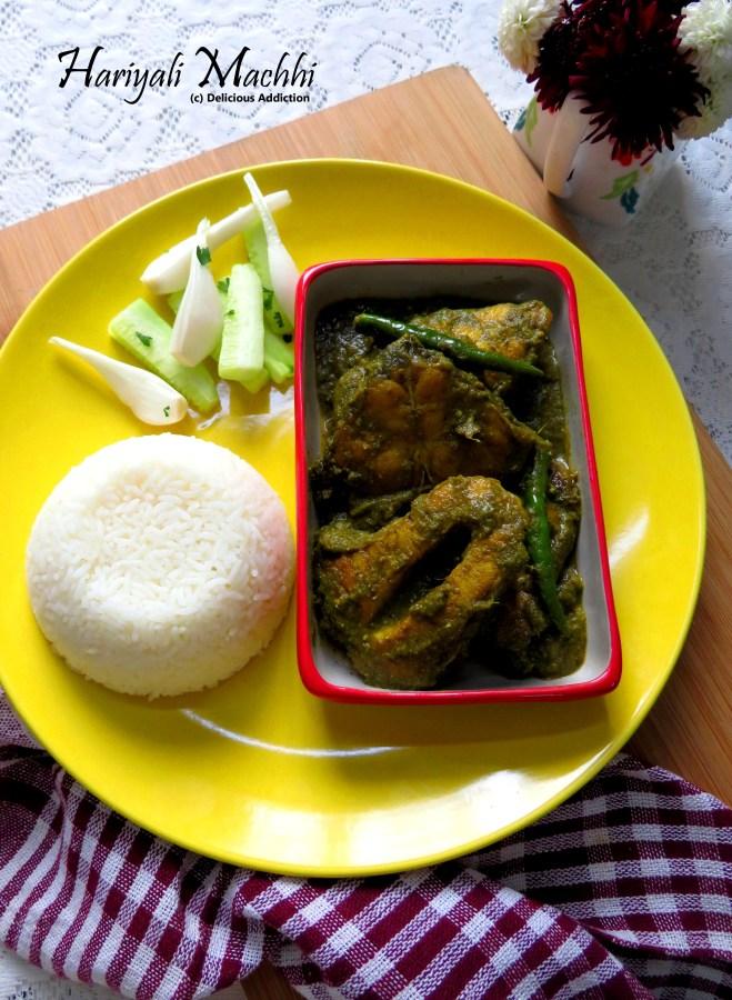 Hariyali Machhi (Spicy Fish Curry withGreens)